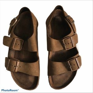 Birkenstock Arizona brown leather sandals size 39